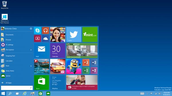 Microsoft анонсировала Windows 10