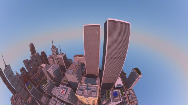 Человек за 2 года построил мегаполис… в Minecraft
