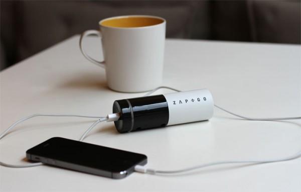 Внешний аккумулятор Zap&Go умеет заряжаться за 5 минут