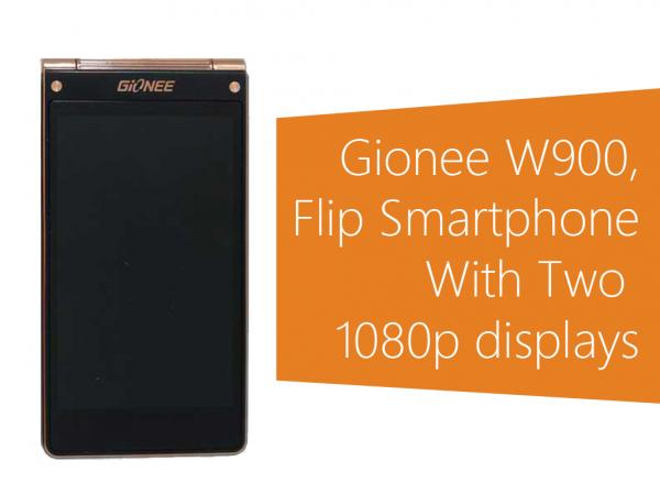 Gionee W900 — «раскладушка» с двумя экранами Full HD