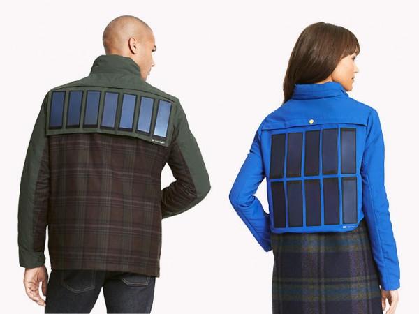 Бренд Tommy Hilfiger представил куртки с солнечными батареями