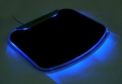 Светящийся коврик для мыши с USB хабом