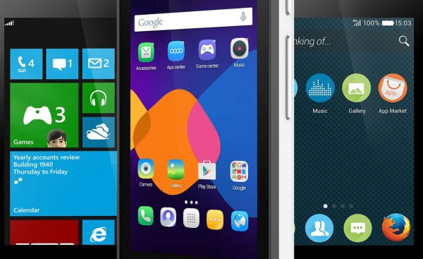 Смартфоны Alcatel OneTouch Pixi 3 получат сразу три ОС?