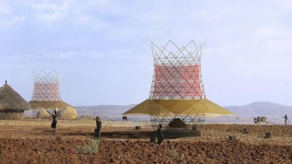 Башня WakaWater добывает воду прямо из воздуха