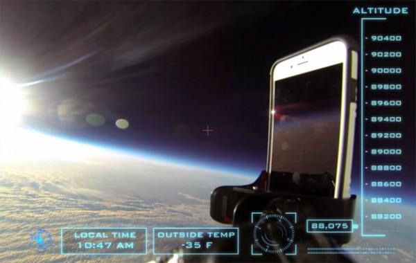 iPhone 6 «уронили» с 30-километровой высоты