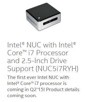 Intel обновит мини-ПК NUC моделью с новейшим Core i7