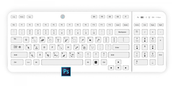Необычная клавиатура Jaasta E-Ink