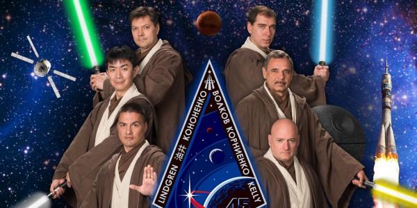 Астронавты МКС стали рыцарями-джедаями