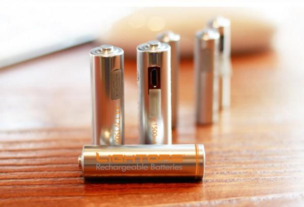 «Батарейки» Lightors можно подзаряжать с помощью USB