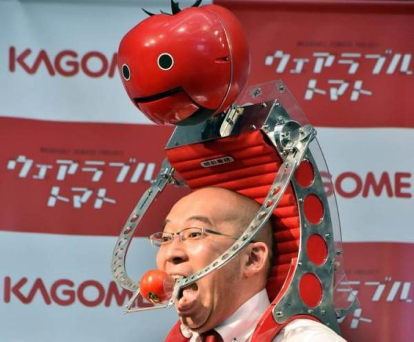 Tomatan — робот, кормящий владельца помидорами