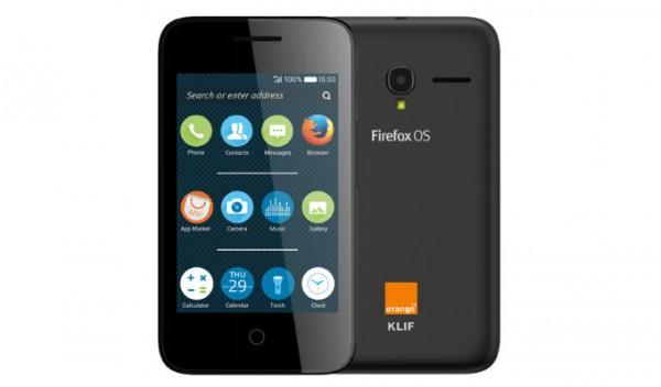 Alcatel Orange Klif: Firefox OS 2.0 за 39 USD