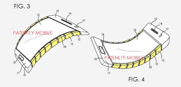 Samsung получил патент на гнущийся смартфон