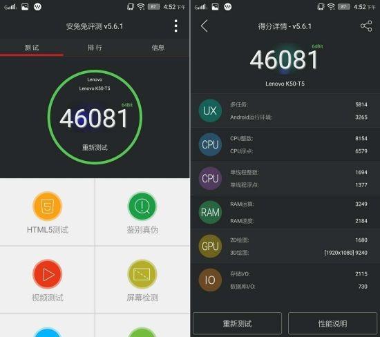 145-долларовый Lenovo K3 Note набрал больше 46 000 очков в AnTuTu