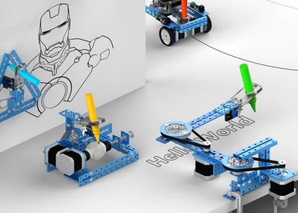 Набор mDrawBot: 4 неплохо рисующих робота