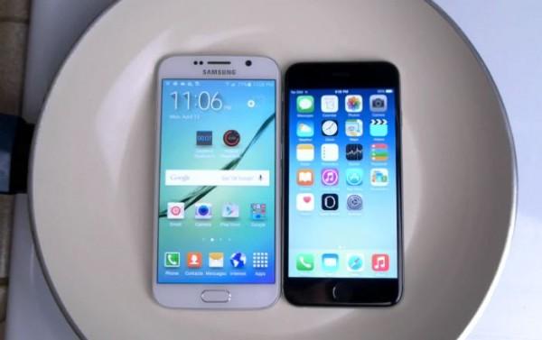 Samsung Galaxy S6 и iPhone 6 испытали кипящей водой