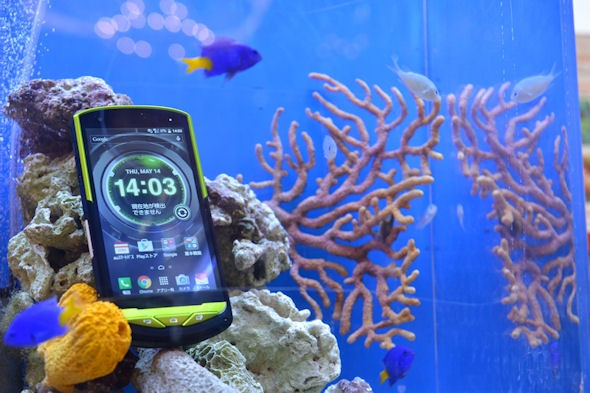 Kyocera Torque G02 работает даже в морской воде