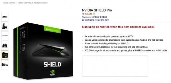 Консоль Nvidia Shield Pro получила накопитель объемом 500 ГБ