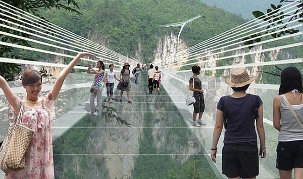 Длиннейший в мире стеклянный мост построят в Китае
