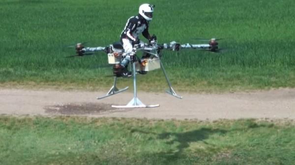 Первый пилотируемый полет трикоптера Flike