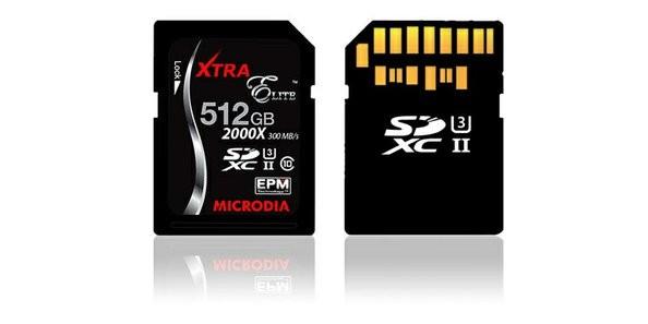 Представлена microSD объемом 512 ГБ