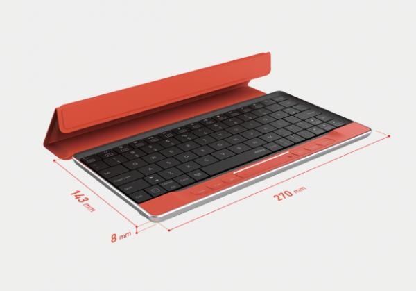 Портативная клавиатура Moky имеет невидимый тачпад