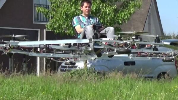 Энтузиаст из Голландии создал пилотируемый мультикоптер