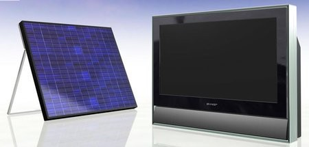 Телевизор с солнечной батареей от Sharp