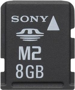 Карта памяти Memory Stick Micro (M2) объемом 8 Гб