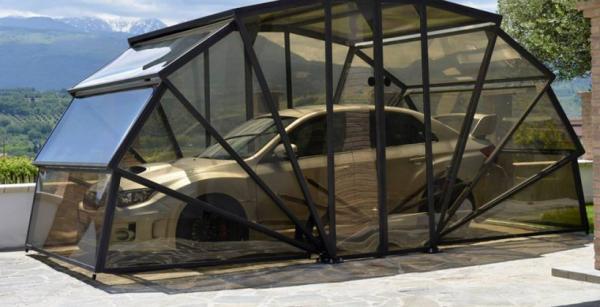 GazeBox — прозрачный складной гараж