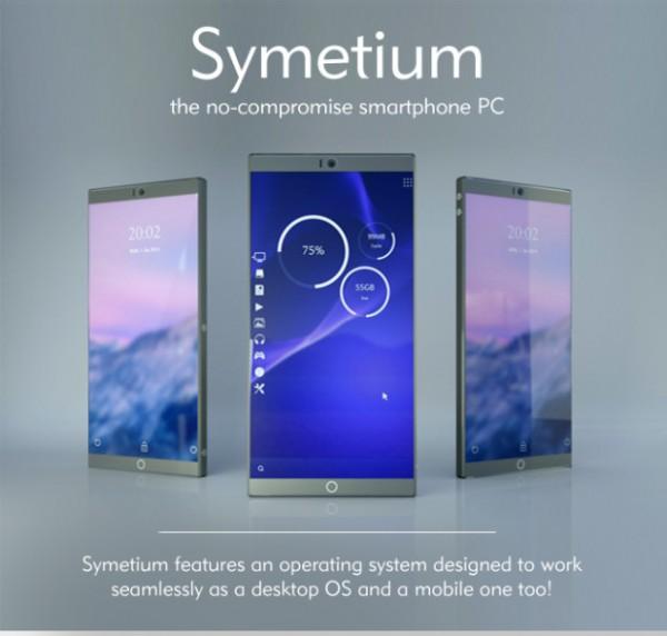 Symetium Smartphone PC – гибрид компьютера и смартфона
