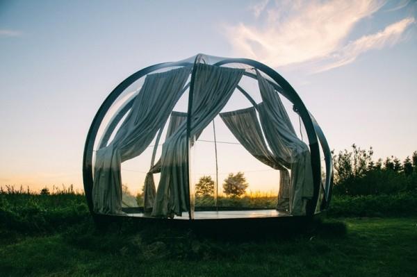 Oasis — прозрачный купол для путешественников