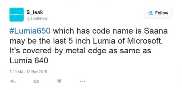 Saana станет последним 5-дюймовым смартфоном в серии Lumia