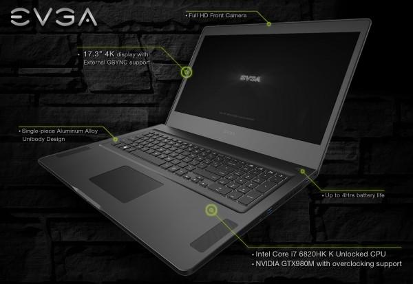 SC17 — игровой ноутбук с заводским разгоном от EVGA