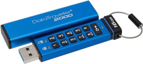 Kingston DataTraveler 2000 — защищенная флешка с клавиатурой