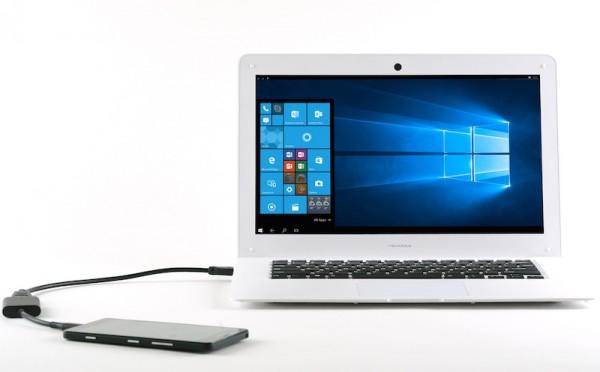 NexDock помогает сделать ноутбук из телефона на базе Windows 10 Mobile