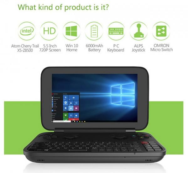 GPD Win — карманная консоль на базе Windows 10