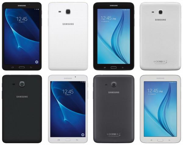 @evleaks обнародовал изображения планшетов Samsung Galaxy Tab A 2016