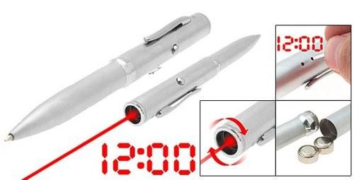 Лазерная указка-ручка-часы