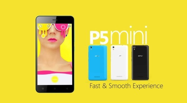P5 Mini — начальный уровень от Gionee