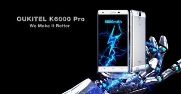 Oukitel K6000 Pro — смартфон с аккумулятором на 6000 мАч