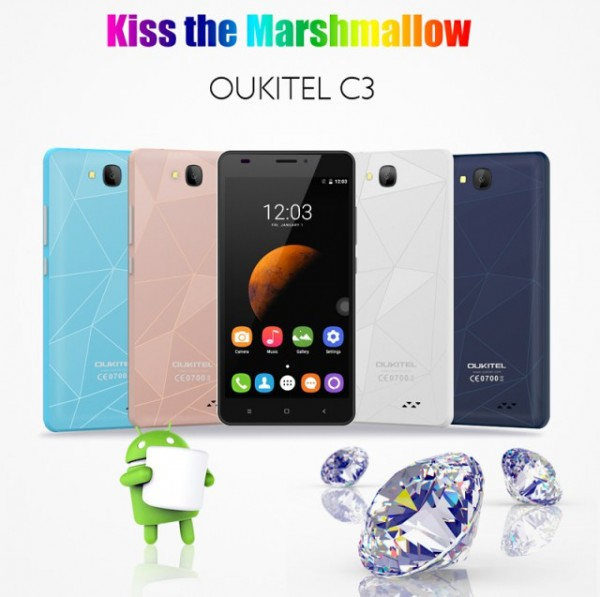 Oukitel C3: смартфон за  с оригинальным дизайном