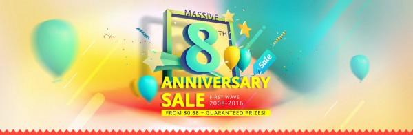 Магазин Everbuying.net объявляет о праздновании своего 8-летнего юбилея!