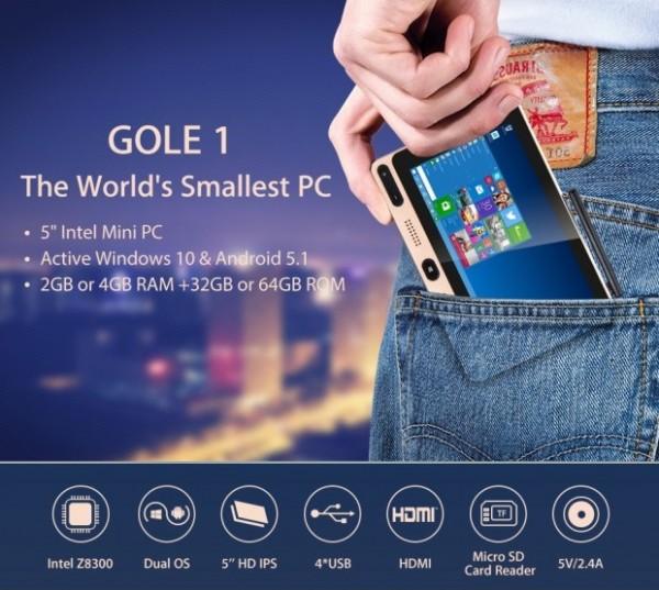 Gole1 — карманный «моноблок» с Windows 10