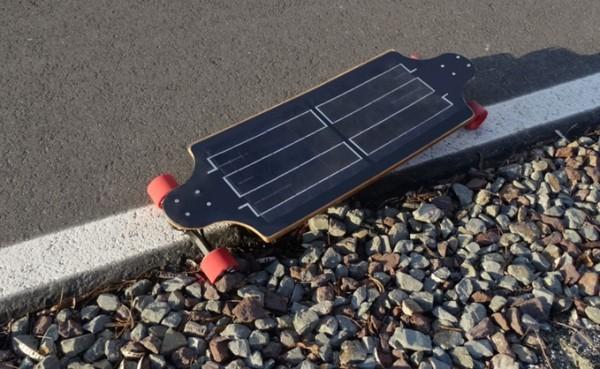YoungBoard — электрический скейтборд на солнечных батареях