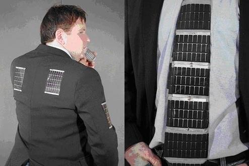 Галстук с солнечными батареями