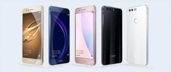 Huawei представила «стеклянный» смартфон Honor 8