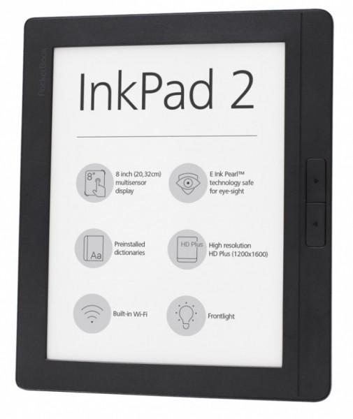 PocketBook InkPad 2: 8-дюймовая читалка с сенсорным экраном