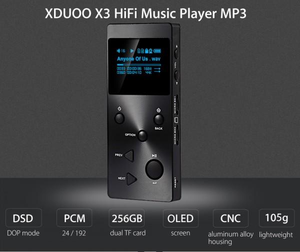 XDUOO X3 — бюджетный плеер со звуком Hi-Fi