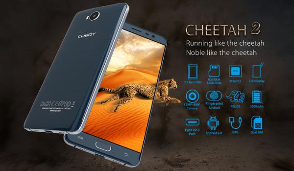 Cheetah 2 — новый «гепардовый» смартфон от Cubot
