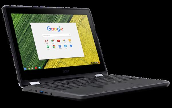 Acer представила защищенный трансформируемый хромбук